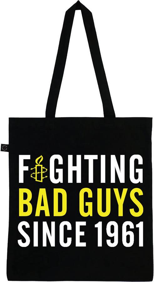 Amnesty Fighting Bad Guys Tote Bag