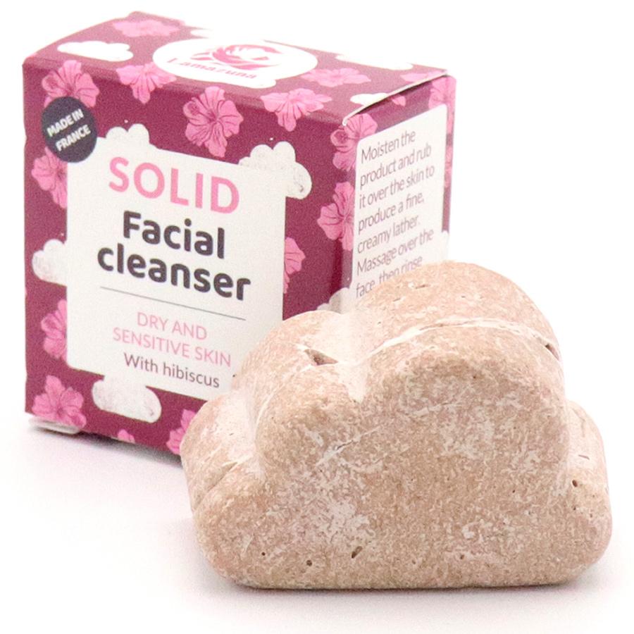 Lamazuna Solid Hibiscus Facial Cleanser - Dry/Sensitive Skin - 25g