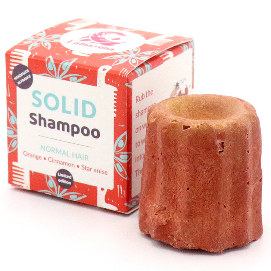Lamazuna Solid Orange Cinnamon & Star Anise Shampoo - Normal Hair - 55g