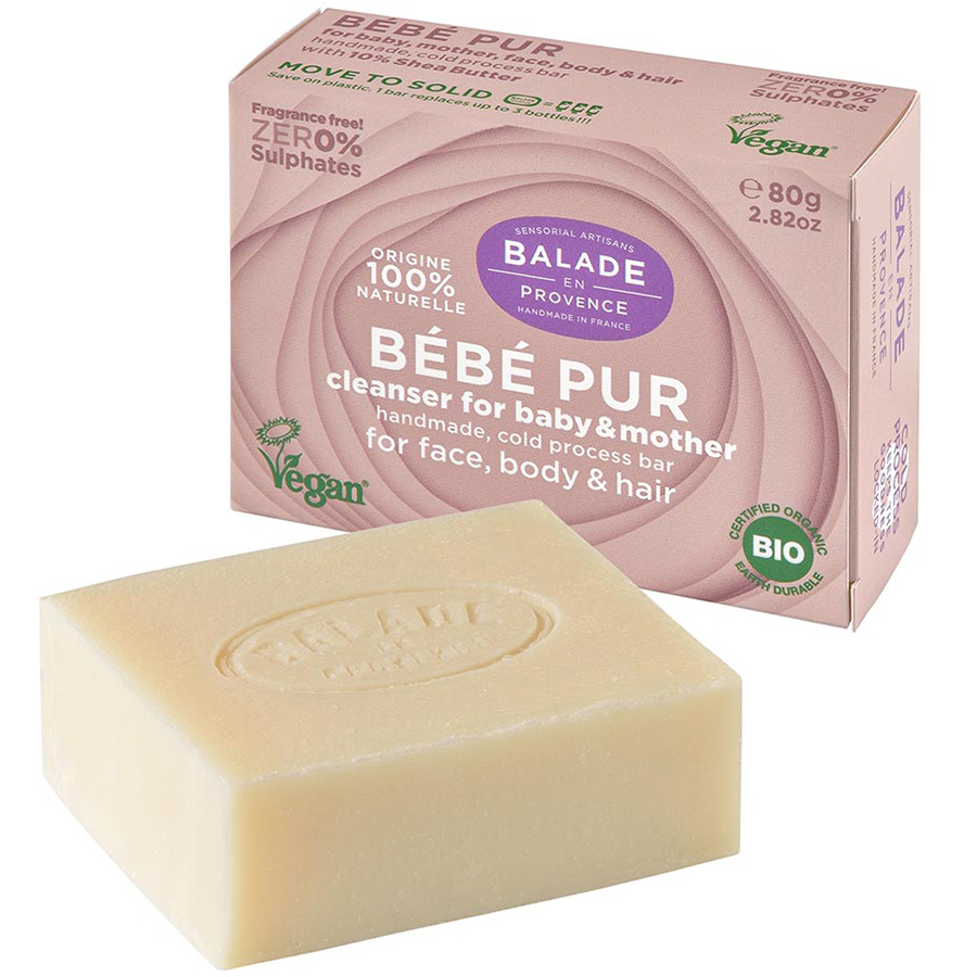 Balade en Provence Bebe Pur Cleanser Bar for Baby and Mother - 80g