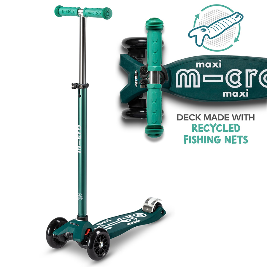 Micro Eco Maxi Deluxe Scooter - Green