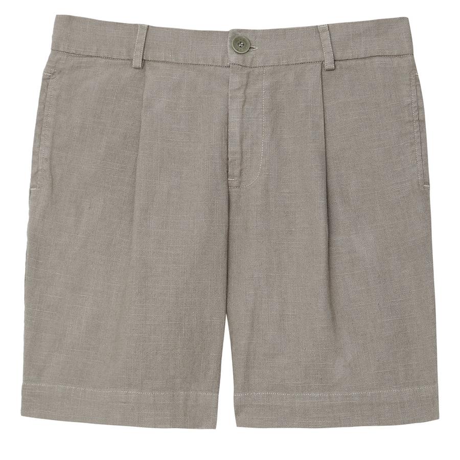 Komodo Bobby Linen Shorts - Khaki