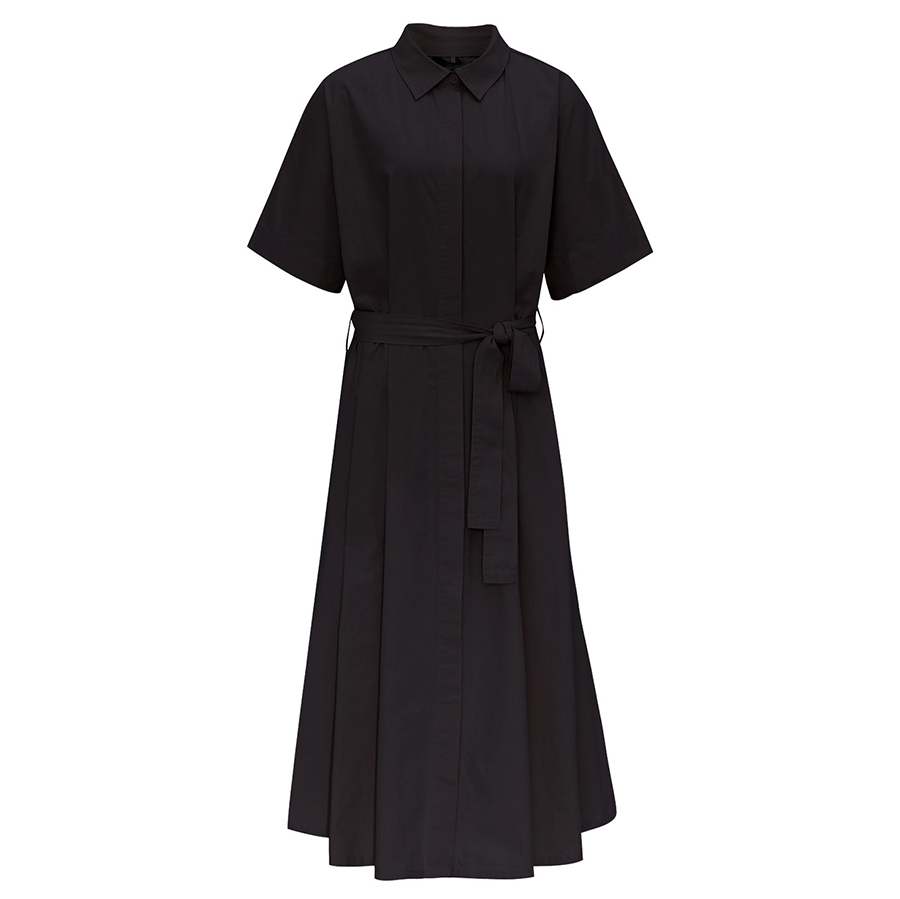Komodo Ash Organic Cotton Dress - Coffee