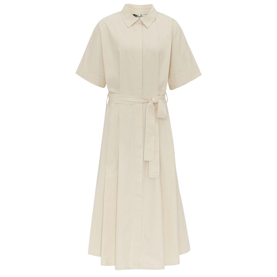 Komodo Ash Organic Cotton Dress - Pebble