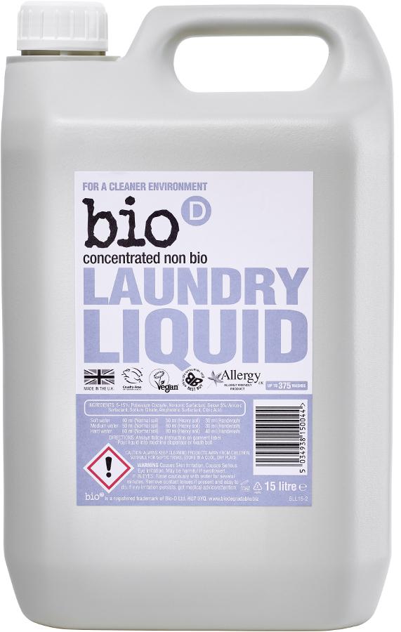 Bio D Concentrated Non-Bio Laundry Liquid - 5L - 125 Washes