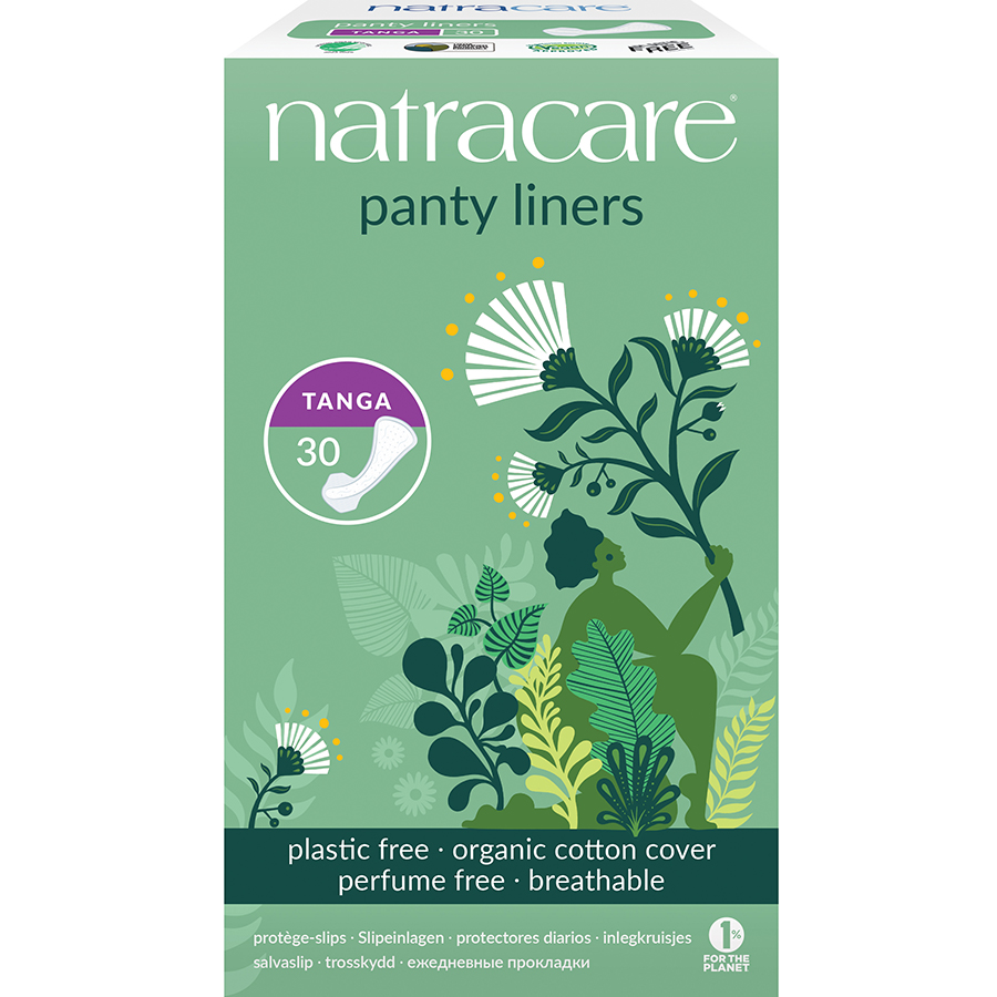 Natracare Organic Cotton Panty Liner - Tanga - Pack of 30