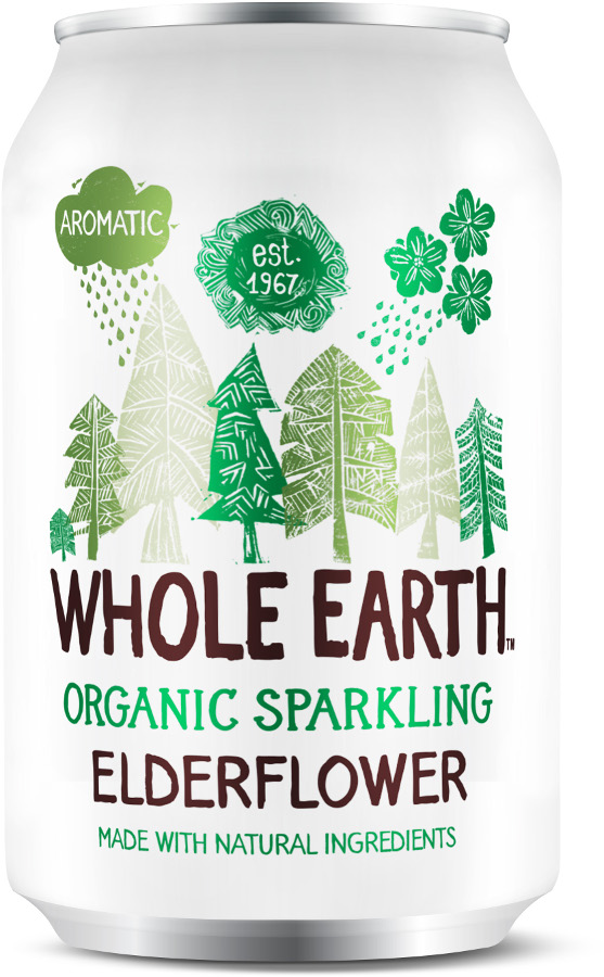 Whole Earth Organic Sparkling Elderflower - 330ml
