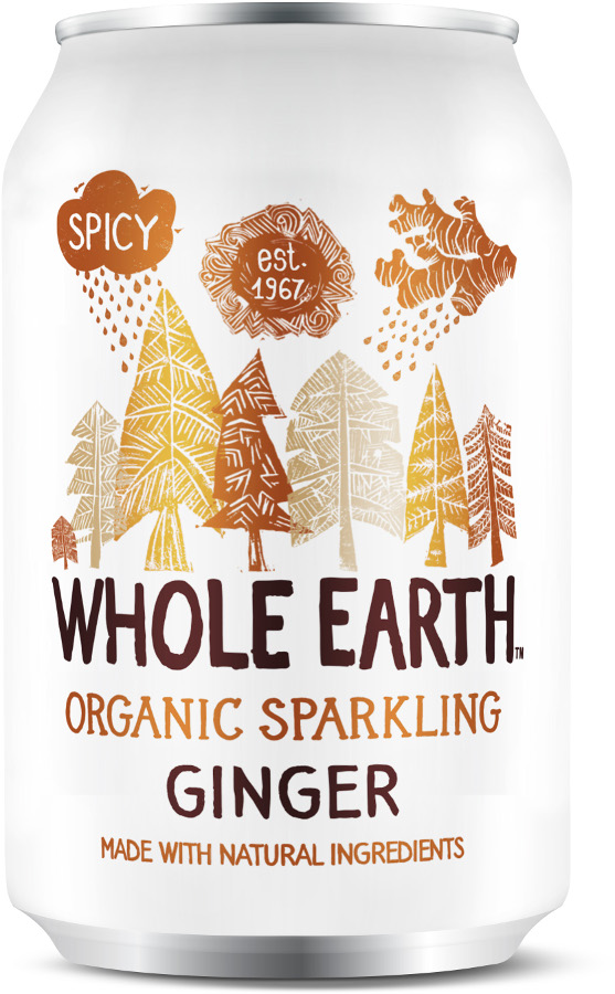 Whole Earth Organic Sparkling Ginger - 330ml