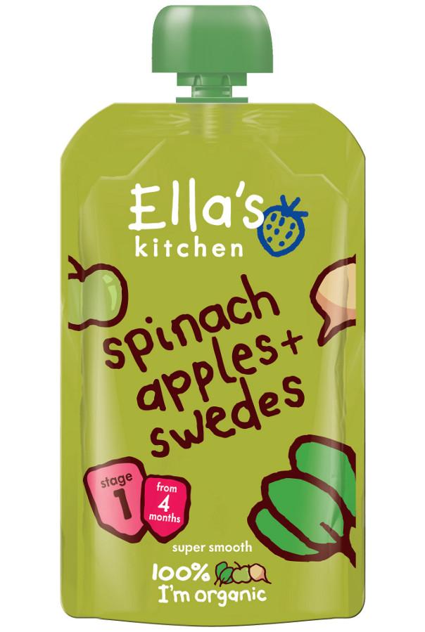 0f6df6a189176 Ella s Kitchen Spinach Apples   Swede - 120g - Ella s Kitchen