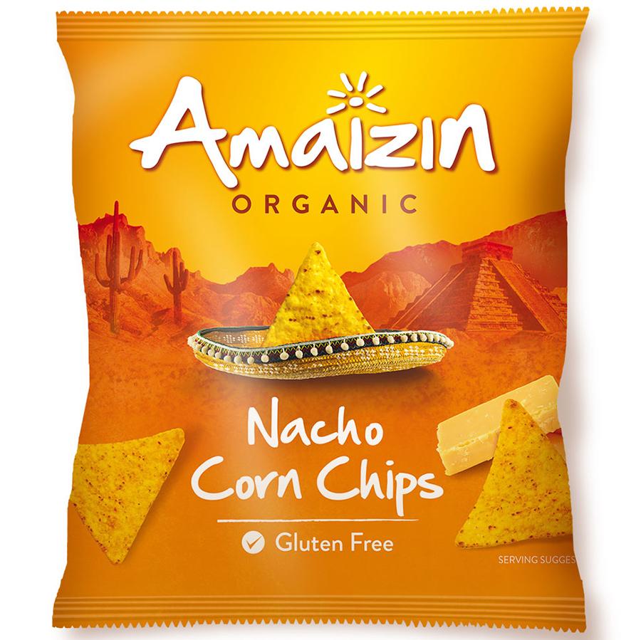 Amaizin Organic Nacho Corn Chips - 150g