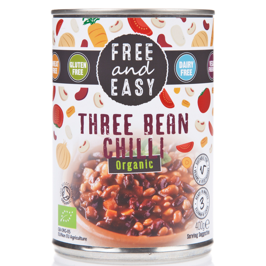 Free & Easy Three Bean Chilli - 400g