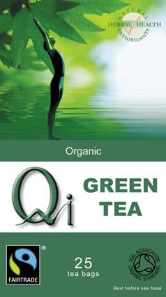 QI Organic Fairtrade Green Tea - 25 Bags