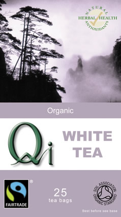 QI Organic Fairtrade White Tea - 25 Bags