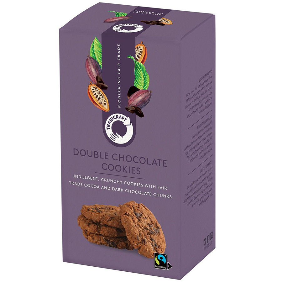 Traidcraft Fairtrade Double Chocolate Chip Cookies - 180g