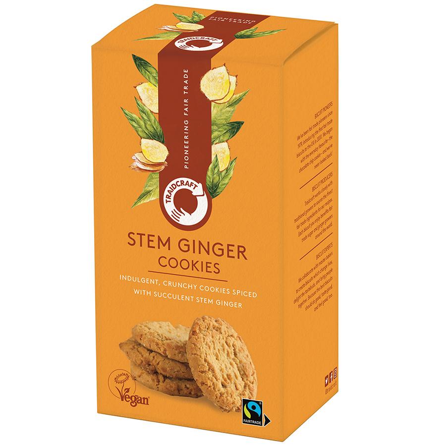 Traidcraft Fairtrade Stem Ginger Cookies - 180g