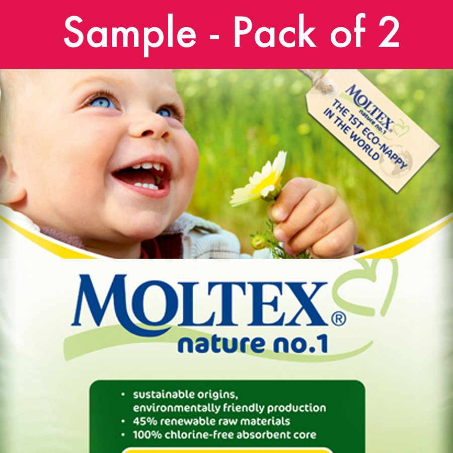 Moltex Nature Disposable Nappies  Sample Pack of 2 Nappies