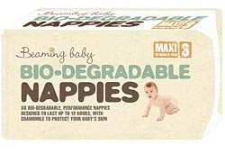 Image of Beaming Baby Biodegradable Nappies - Maxi - Size 3 - Pack of 34