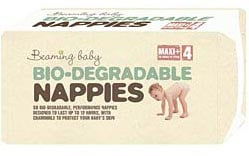 Image of Beaming Baby Biodegradable Nappies - Maxi Plus - Size 4 - Pack of 34