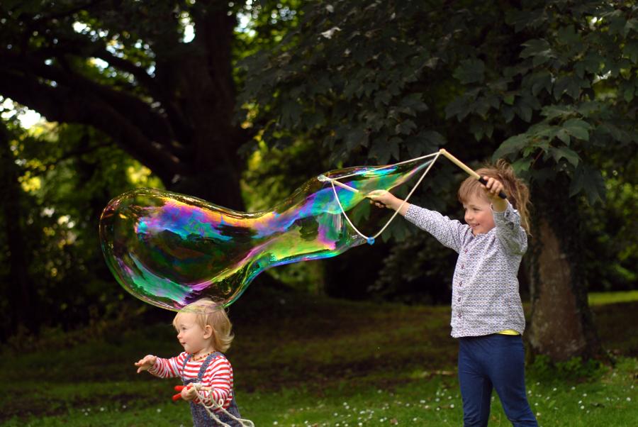 Giant bubbles fun.