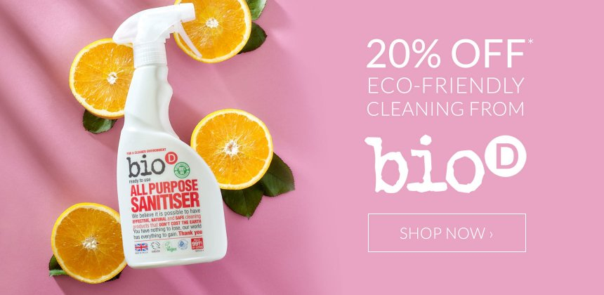 20% off selected Bio-D cleaning