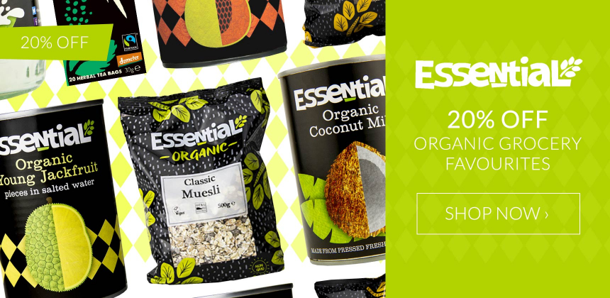 20% off organic Essential Trading