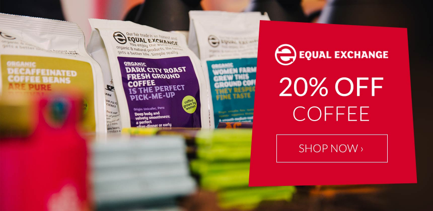 20% off Equal Exchange Fairtrade Coffee