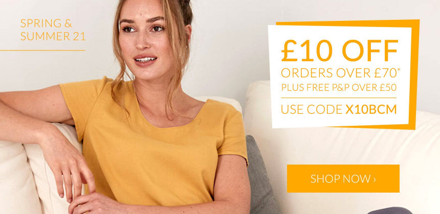 £10 off when you spend £70  using the code X10BCM. Ends 26th April