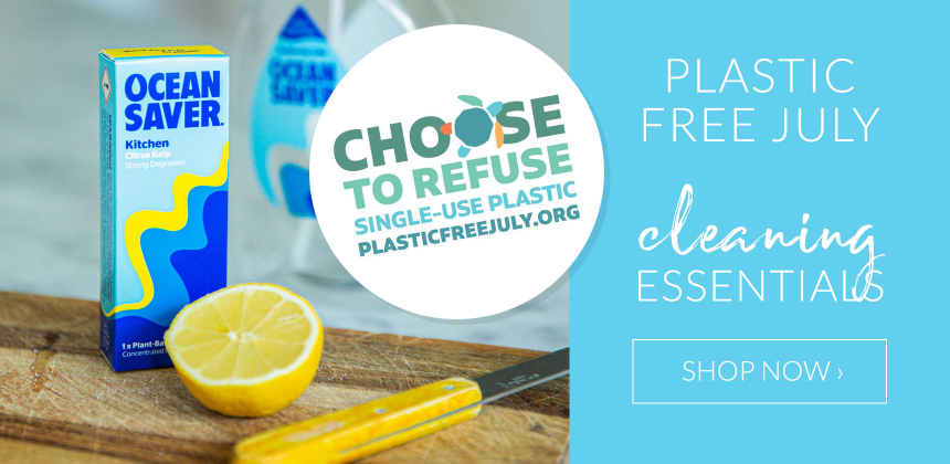 Plastic Free July cleaning