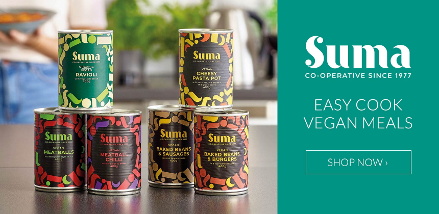 Easy cook vegan meals from Suma