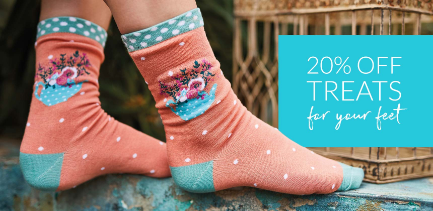 20% off selected socks, tights and gift sets. Ends 9/6/20