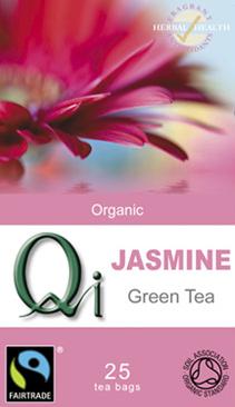 QI Organic Fairtrade Jasmine Green Tea - 25 Bags