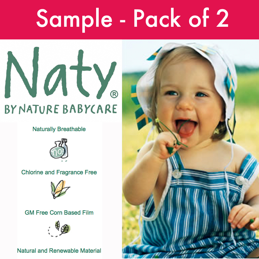 Naty by Nature Babycare Disposable Nappies  Sample Pack of 2 Nappies