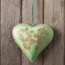Green Metal Heart Large Hanging Decoration