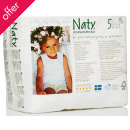 Naty by Nature Babycare Pull On Disposable Nappy Pants - Junior - Size 5 - Pack of 20