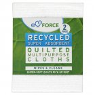 EcoForce Recycled Multipurpose Cloths - 2pk