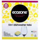 Ecozone Phosphate-Free 5-in-1 Dishwasher Tablets - Pack of 25