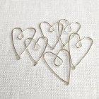 La Jewellery Recycled Silver Heart Page Savers - Set ot 6