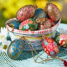 Traidcraft Paper Mache Egg Decorations - Set of 4