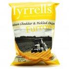 Tyrrells Mature Cheddar & Pickled Onion Furrows - 40g