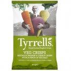 Tyrrells Crinkly Veg Beetroot, Parsnip & Carrot Crisps - 40g
