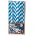 Pack Of 25 Blue Paper Party Straws