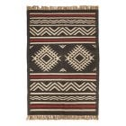 Black and Red Aztec Rug