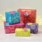 Bright Snowflake Gift Wrap & Tags - Pack of 5