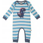 Charlie Romper Cornish Blue Stripe/Dino