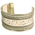 Silver Patterned Bangle