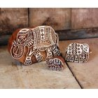 Wooden Elephant Blocks - Set Of 3