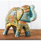 Hand-painted Clay Elephant
