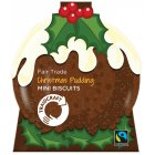 Traidcraft Christmas Pudding Mini Biscuits - 150g