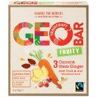 Geobar Gluten Free Fruity Carrot & Ginger Bar 33g  - Box of 3