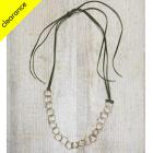 Brass Ribbon Hoop Necklace